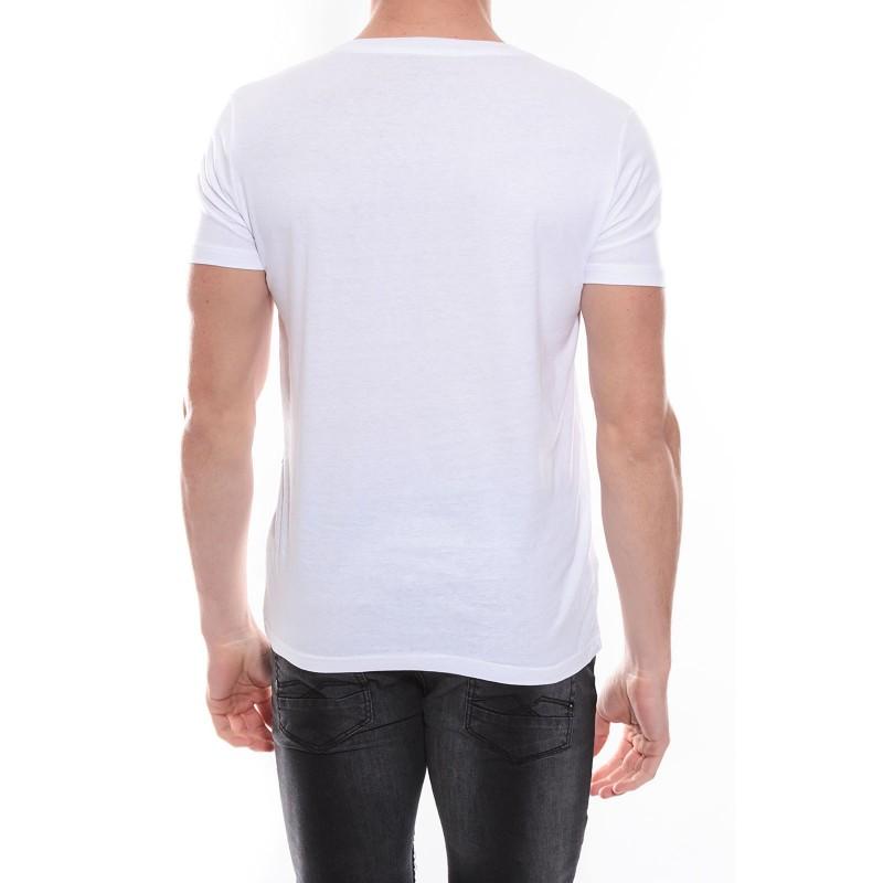 T-shirt col V en coton NADOT