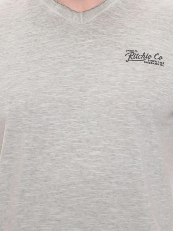 T-shirt col V en coton NAGAP
