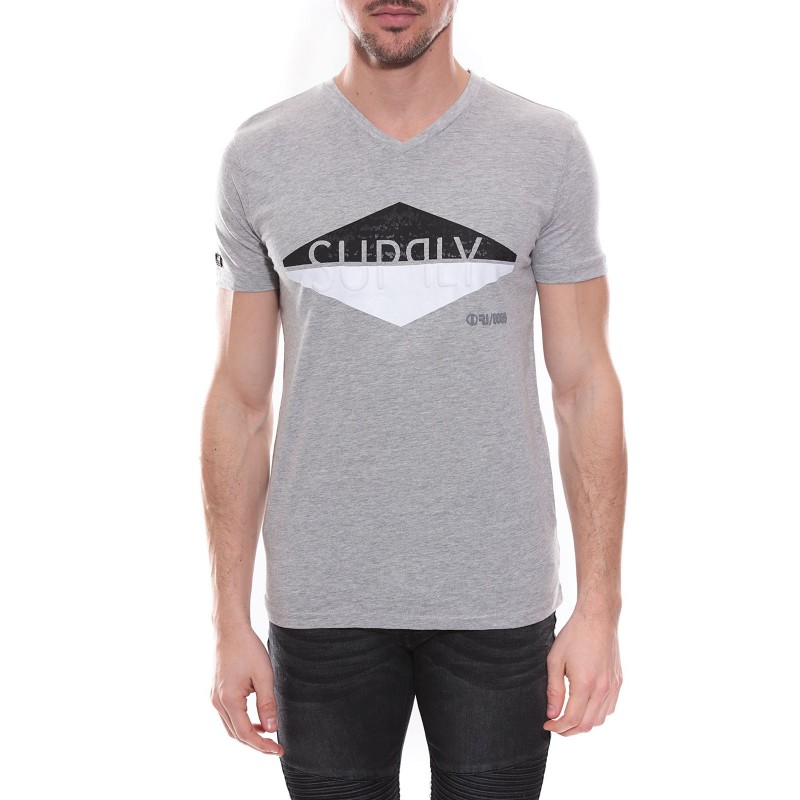 T-shirt col V en coton NAIG