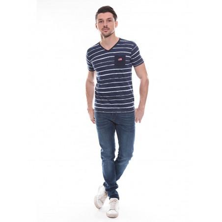 T-shirt col V en coton NAMRATA