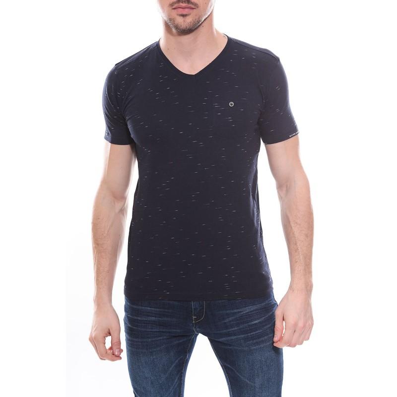T-shirt col V en coton NANDU