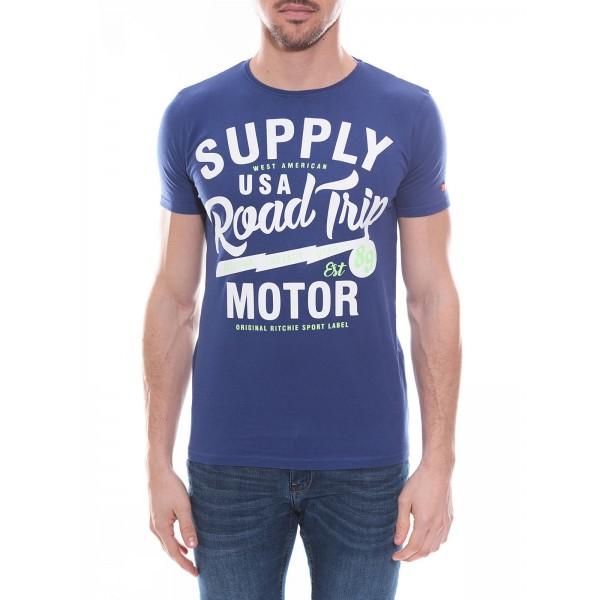 T-shirt col rond en coton NELSON