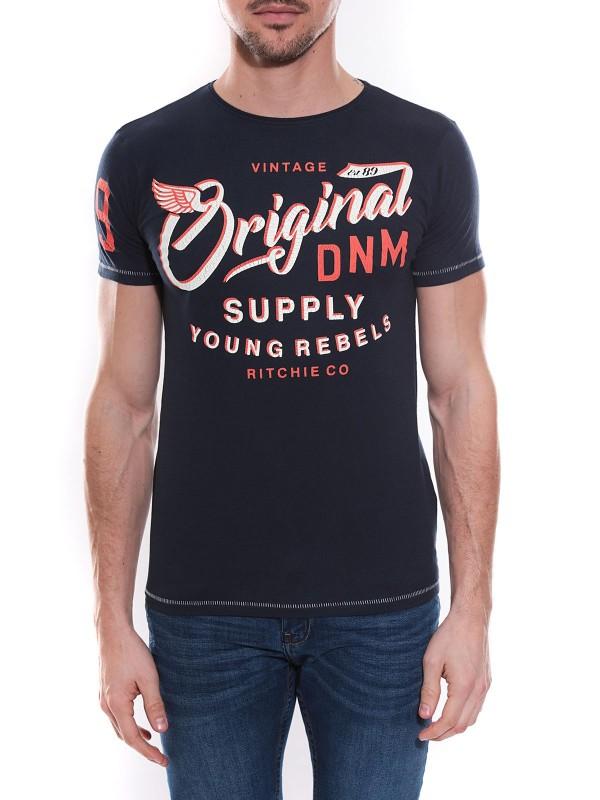 T-shirt col rond en coton NEWTON