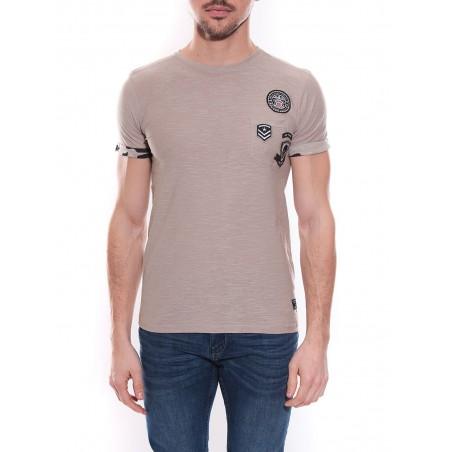 T-shirt col rond en coton NICK