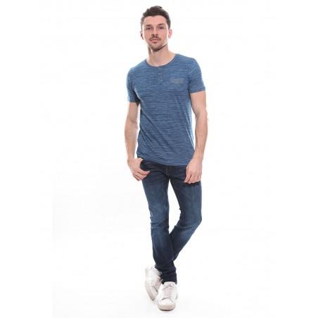 T-shirt col tunisien en coton NIGERIA