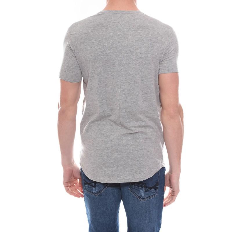 T-shirt oversize col rond en coton stretch NIKOS