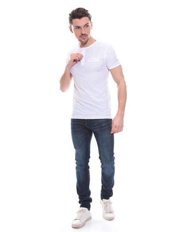 T-shirt col tunisien en coton NISHA