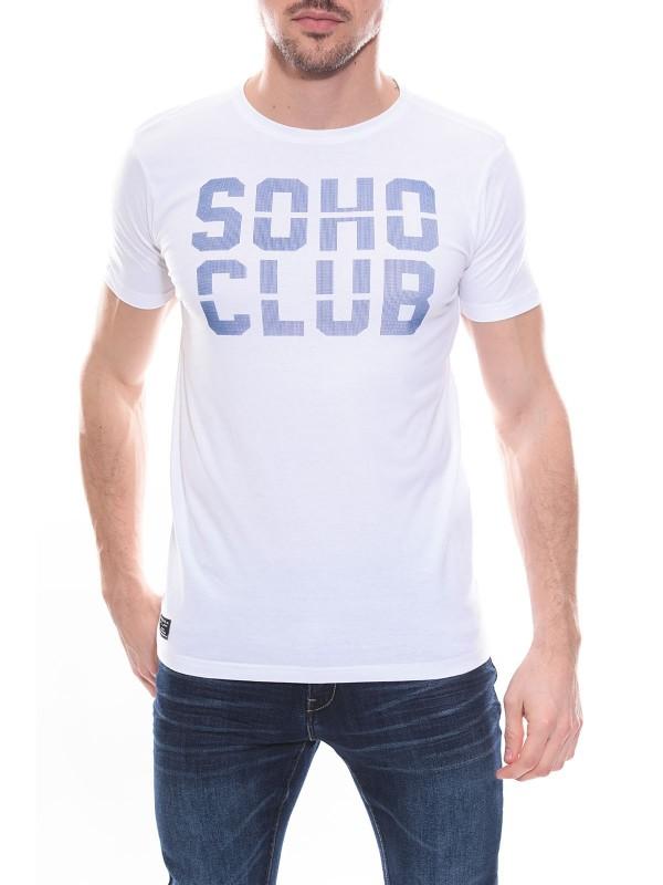 T-shirt col rond en coton NOLAN