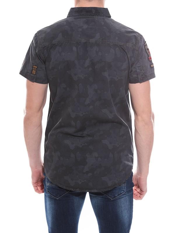 Chemise en coton imprimé camouflage DABO