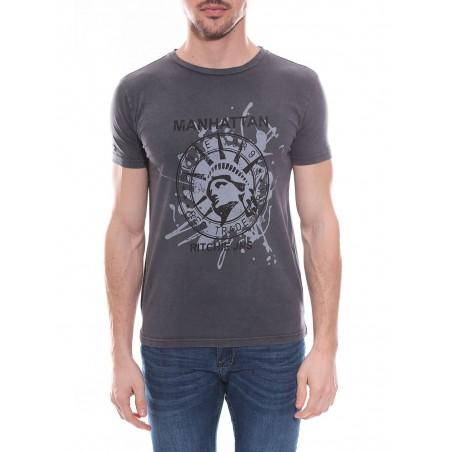 T-shirt col rond en coton NAPOLEON
