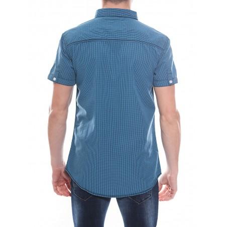 Chemise à petits carreaux en coton DATTE