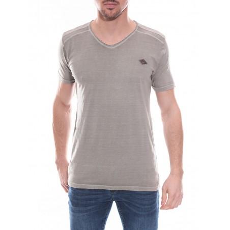 T-shirt col V en coton NORMAN