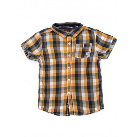 Chemise à carreaux en coton DYNAMO BOY