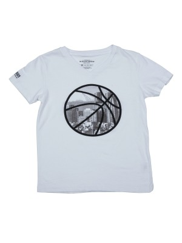 T-shirt col V en coton NADOT BOY