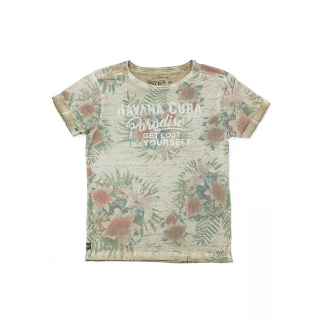 T-shirt col rond en coton NATSUKO BOY