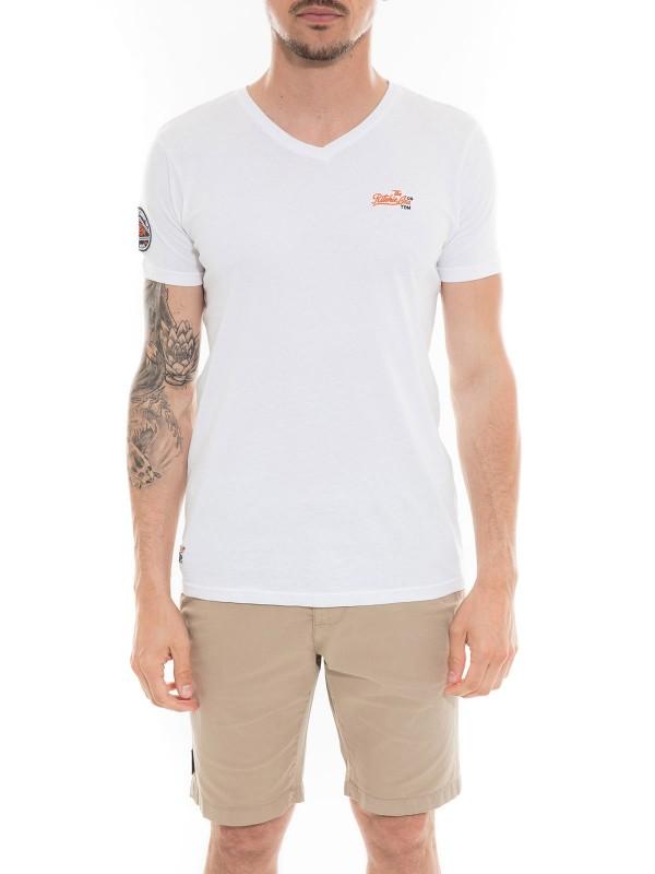 T-shirt col V en coton MAPUTO