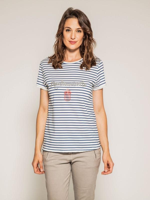 T-shirt marinière col rond FORET