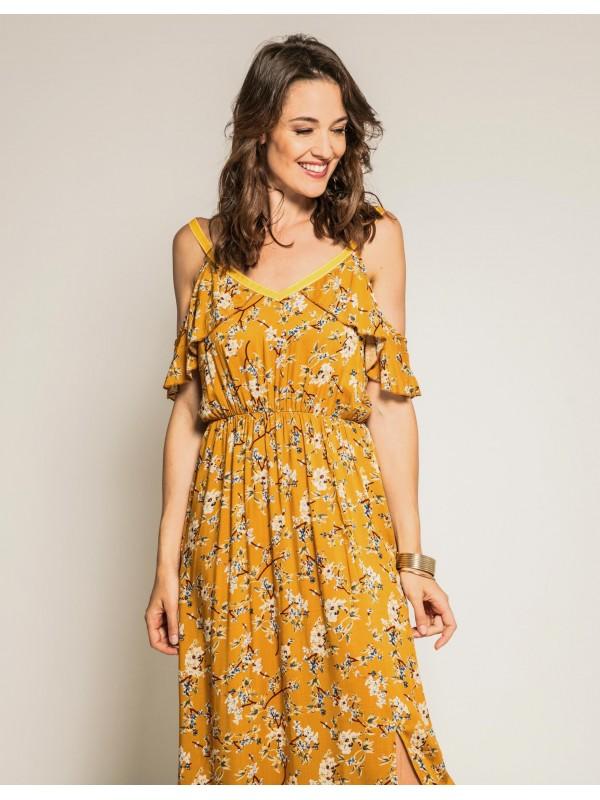Robe longue à imprimé floral IPOMEE