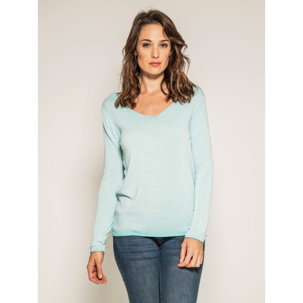 Pull fin col rond tie and dye KATOMAC
