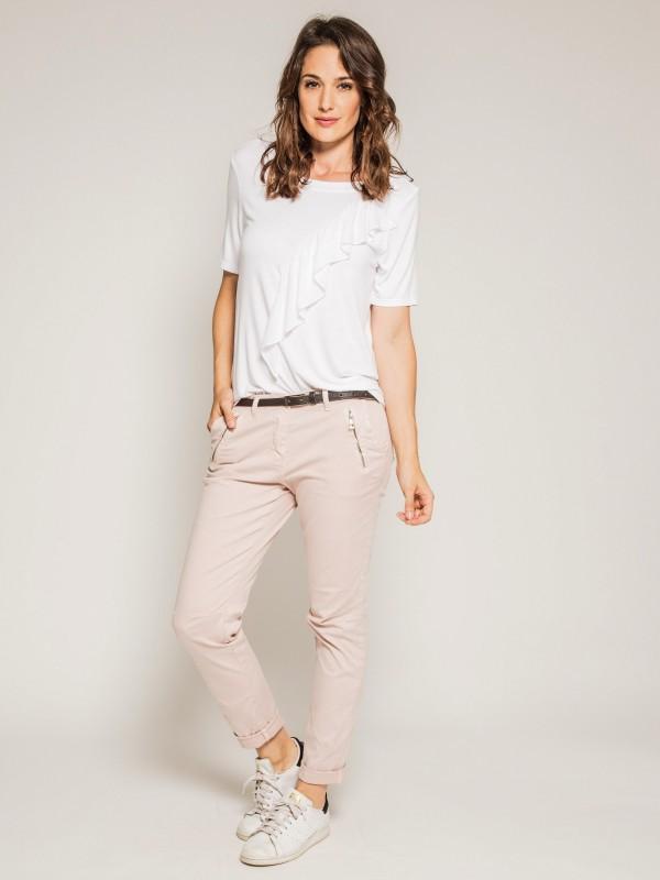 T-shirt col rond manches courtes avec volant FIRMINI