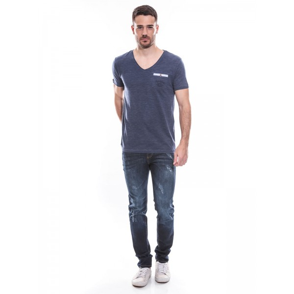 T-shirt col V manches courtes pur coton KJ MARION