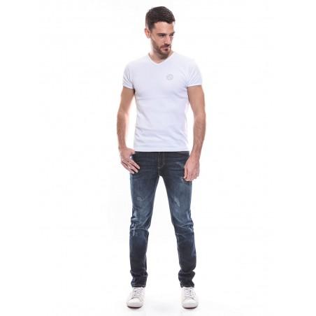 T-shirt col V manches courtes pur coton KJ MARKO