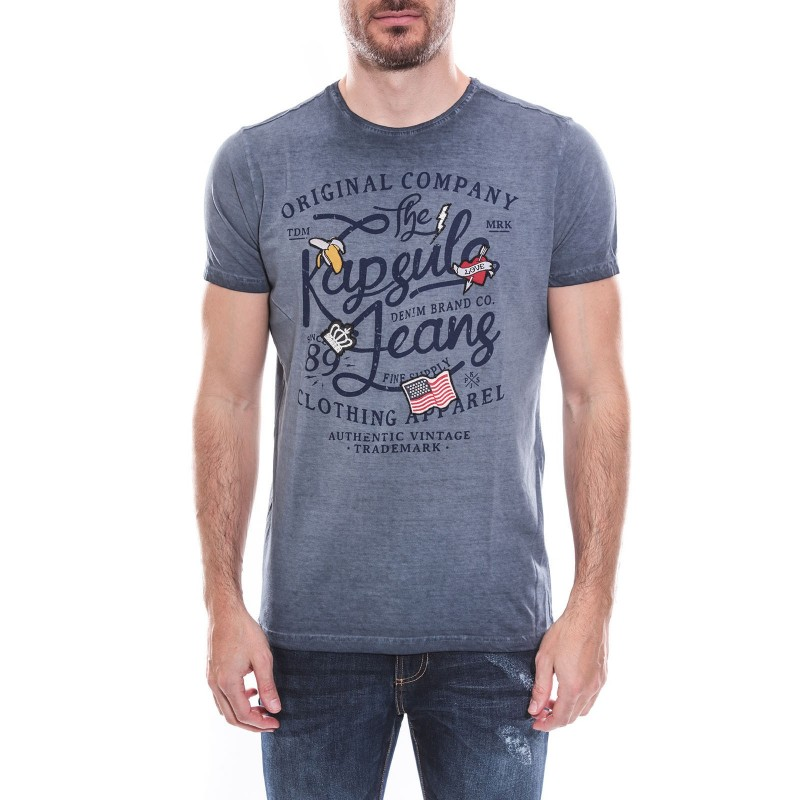 T-shirt col rond manches courtes pur coton KJ-MODOU