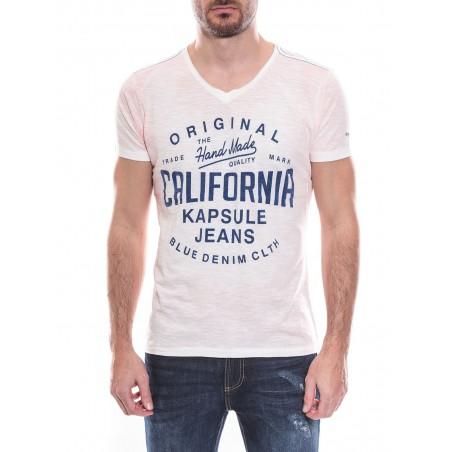 T-shirt col V manches courtes pur coton KJ MOLANE