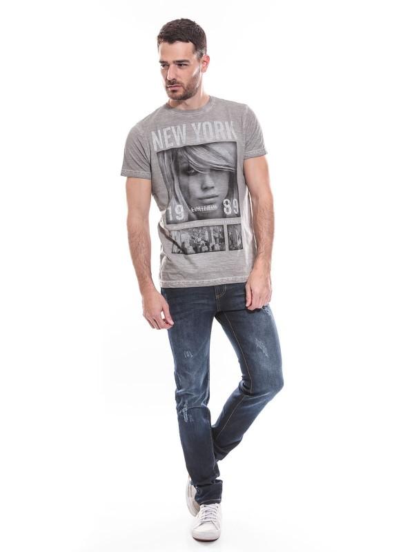 T-shirt col rond manches courtes pur coton KJ MONITIX