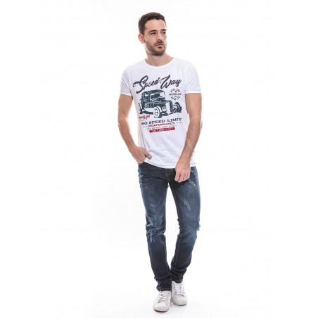 T-shirt col rond manches courtes pur coton KJ NAJOU