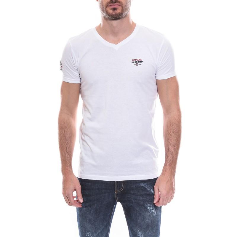 T-shirt col V manches courtes pur coton KJ NAPSTER