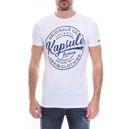 T-shirt col rond manches courtes pur coton KJ NEVOU