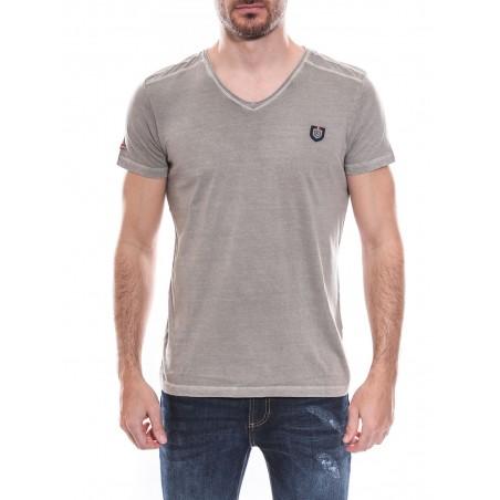 T-shirt col V manches courtes pur coton KJ NORNES