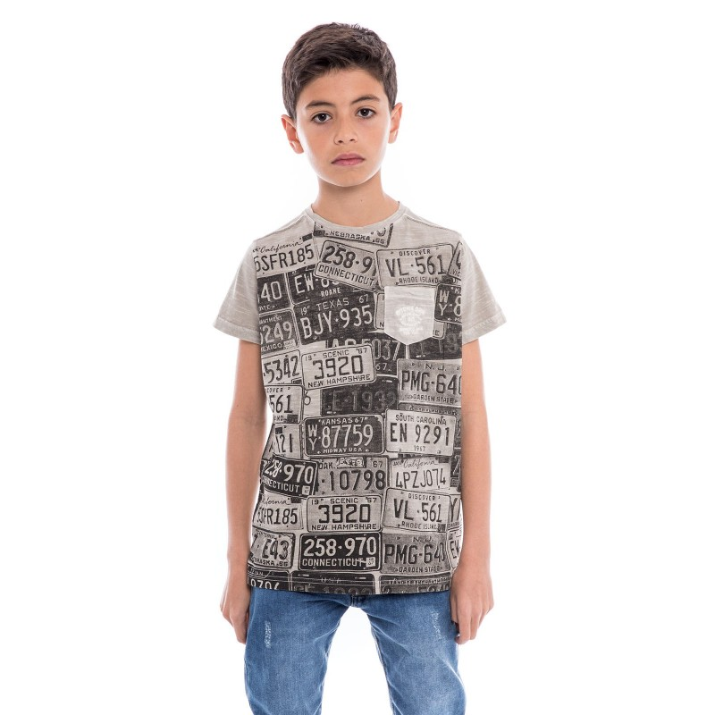 T-shirt col rond pur coton NEDELKO BOY