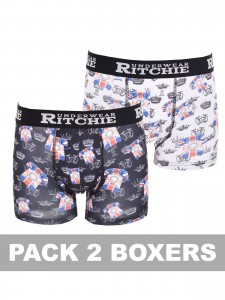 Boxer motifs ROKE, lot de 2