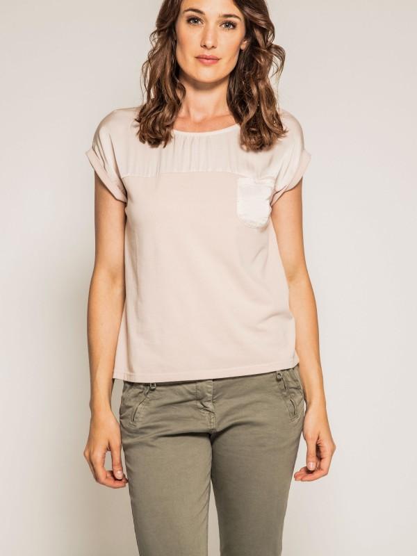 T-shirt col rond bimatière ORPHEE