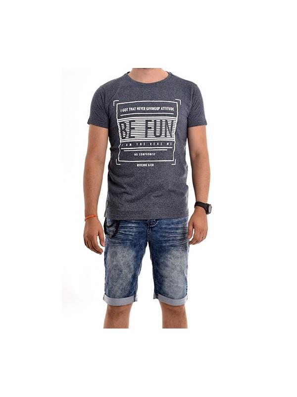 T-shirt col rond pur coton NARANJA