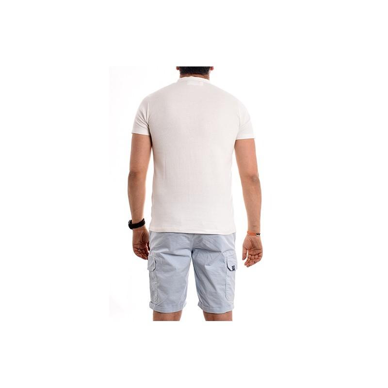 T-shirt col tunisien pur coton NARCOS