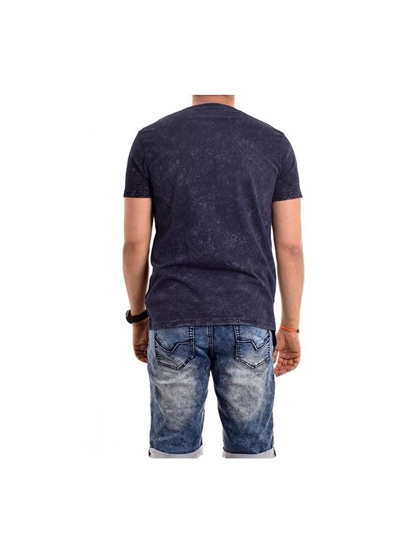 T-shirt col tunisien pur coton NATOULIX