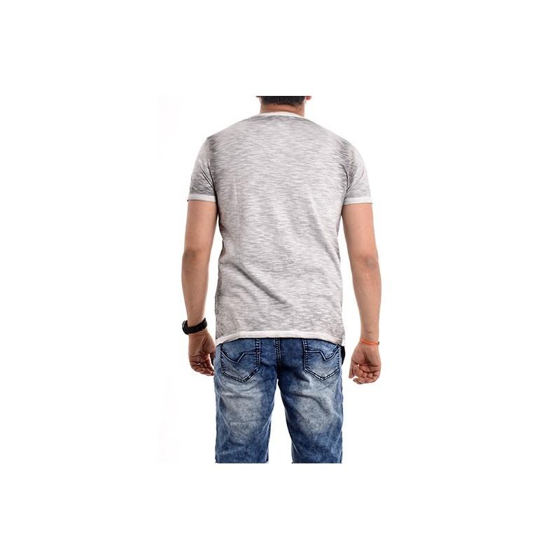 T-shirt col rond pur coton NELESTIN