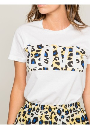T-shirt col rond message FOVE
