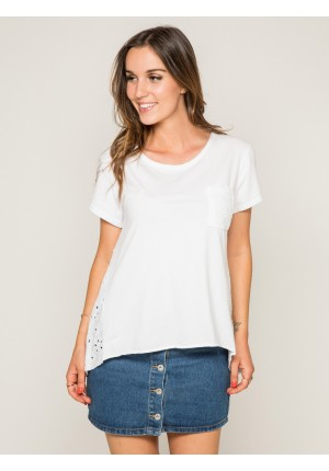 T-shirt col rond broderies anglaises FOCACIA