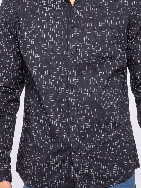 Chemise manches longues motif imprimé TYSON