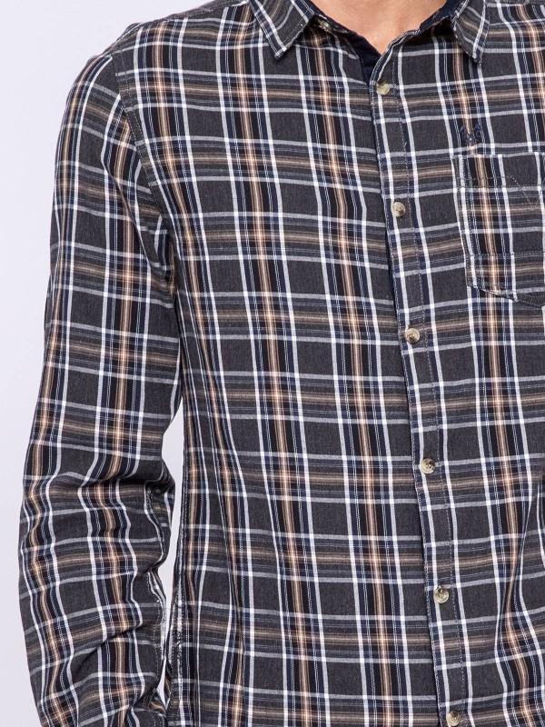 Chemise manches longues carreaux pur coton TILOUP