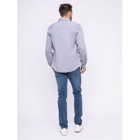 Chemise manches longues pur coton TOPAZE