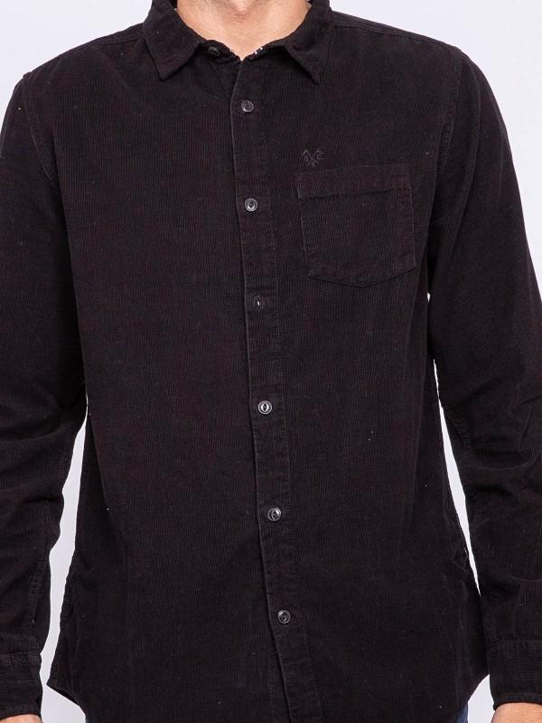 Chemise manches longues pur coton velours TRESOR