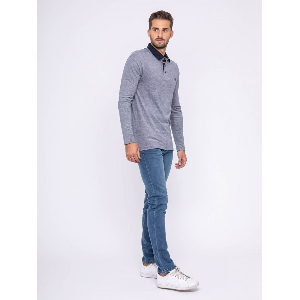 Polo manches longues pur coton PIRATE