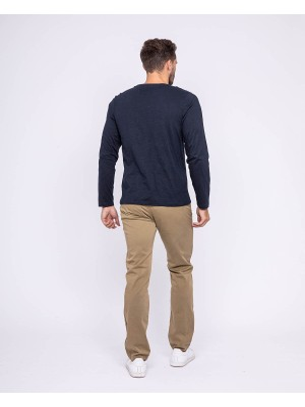 T-shirt manches longues col rond pur coton JOBARY