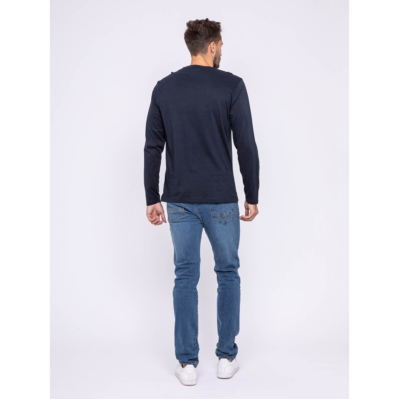 T-shirt manches longues col rond pur coton JEULAND
