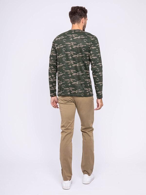 T-shirt manches longues col rond pur coton JESTIN